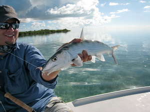 Fly fishing for bonefish in the Turks and Caicos Islands