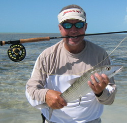 Flatsfishing for bonefish in the Turks and Caicos Islands