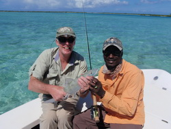 Bonefishing with Darin Bain a local bonefish guide in the Turks and Caicos Islands