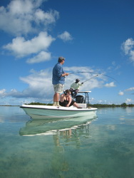 Guided bonefishing in the Turks and Caicos